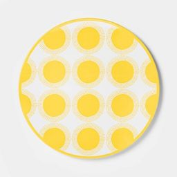 "10.5"" Melamine Dot Dining Plate Yellow - Sun Squad™   Target"