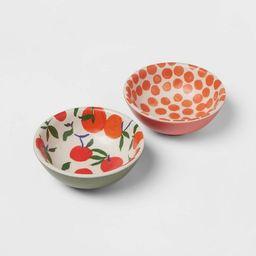 4.5oz 2pk Bamboo Melamine Mini Bowls - Opalhouse™ | Target