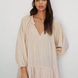 Striped cotton dress | MANGO (US)