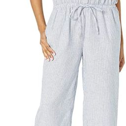 Amazon Brand - Goodthreads Women's Relaxed Fit Washed Linen Blend Button Front Jumpsuit | Amazon (US)
