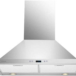 Cavaliere SV218B2-30 Wall Mount Range Hood with 900 CFM in Stainless Steel   Amazon (US)