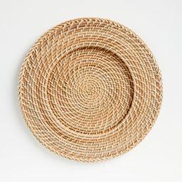 Artesia Natural Rattan Charger Plate + Reviews | Crate and Barrel | Crate & Barrel