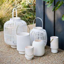 Modern Porcelain Hurricanes - White | West Elm (US)