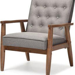 Baxton Studio BBT8013-Grey Chair armchairs, Grey   Amazon (US)