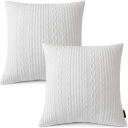 Booque Valley Throw Pillow Covers, Pack of 2 Super Soft Elegant Modern Embossed Patterned Cushion...   Amazon (US)