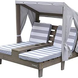 KidKraft Outdoor Double Chaise Lounge with Cup Holders Gray | Amazon (US)