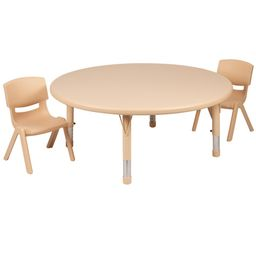 Carnegy Avenue Natural Kids' Table and Chair Set | The Home Depot