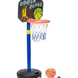 Dash Toyz Lawn Games - Blue & Brown 'Magic Shoot' Indoor/Outdoor Basketball Hoop Set | Zulily