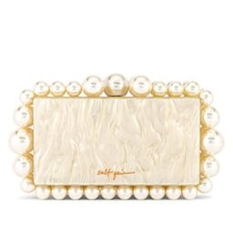 Cult Gaia Eos Box Clutch in Pearl from Revolve.com   Revolve Clothing (Global)