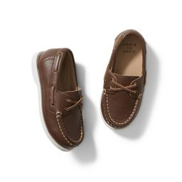 Leather Boat Shoe | Janie and Jack
