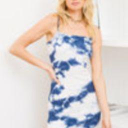 So Far Out Navy Blue Tie-Dye Bodycon Mini Dress   Lulus (US)