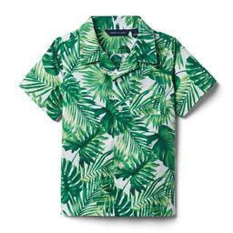 Palm Poplin Shirt | Janie and Jack