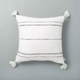 Dotted Stripes with Tassels Throw Pillow - Hearth & Hand™ with Magnolia   Target