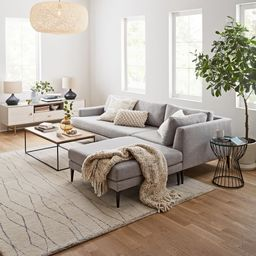 Andes 3-Piece Chaise Sectional   West Elm (US)