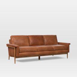 Leon Wood Frame Leather Sofa   West Elm (US)