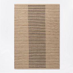 Reseda Hand Woven Striped Jute Cotton Area Rug Black - Threshold™ designed with Studio McGee | Target