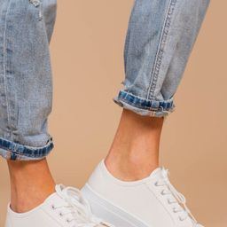 Easy Street White Platform Sneakers   The Mint Julep Boutique
