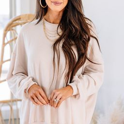 It's All Possible Beige Brown So Soft Tunic   The Mint Julep Boutique