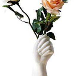 Ceramic Flower Vase Nordic Style Hand Shape Sculpture Vase, Lucakuins Flower Planter Pot Ornament... | Amazon (CA)