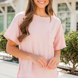 Take It Easy Pink Pocket Top   The Mint Julep Boutique