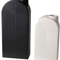 TERESA'S COLLECTIONS Ceramic Modern Vase, Black and White Geometric Decorative Vases for Home Dec... | Amazon (CA)