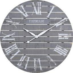 FirsTime & Co. Gray Aranza Shiplap Farmhouse Clock-31148 - The Home Depot   The Home Depot