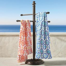 Trapani Aluminum Towel Stand | Frontgate | Frontgate