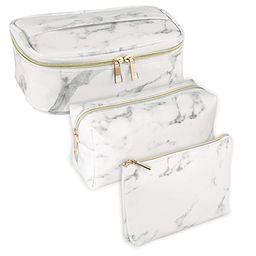 SUBANG 3 Pack Marble Makeup Bag Toiletry Bag Travel Bag Portable Cosmetic Bag Makeup Brushes Bag ...   Amazon (US)