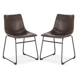 EDGEMOD Brinley Brown Dining Chair (Set of 2) | The Home Depot