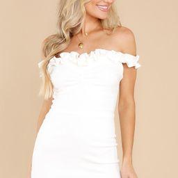 Hint Of Romance White Mini Dress   Red Dress