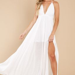 Easy To Admire White Maxi Dress   Red Dress