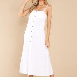 For Forever White Midi Dress   Red Dress
