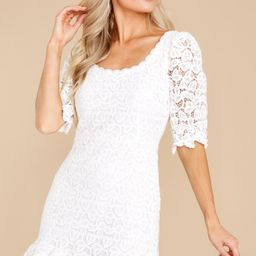 A Burning Question White Lace Dress   Red Dress