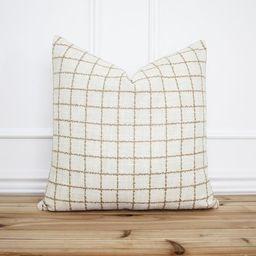 Windowpane Pillow Cover • Plaid Throw Pillow • Decorative Pillow • Designer Pillows • Far...   Etsy (US)