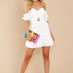 Glamorous Life White Dress   Red Dress