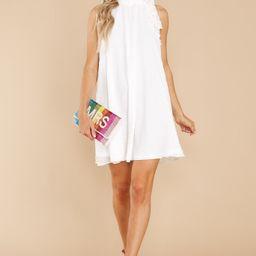 Blissful Romance White Dress   Red Dress