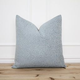 Blue Dot Pillow Cover • Blue Spot Pillow • Blue 20x20 Textured Pillow • Designer Pillow •...   Etsy (US)