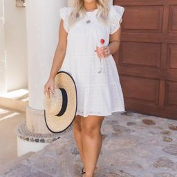Mindless Dreaming Ivory Eyelet Dress | The Pink Lily Boutique