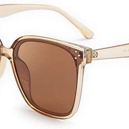 FEISEDY Retro Square Polarized Sunglasses Women Men Oversized Vintage Shades B2600 | Amazon (US)