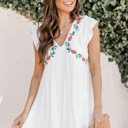 Summer Long Romance Dress White | The Pink Lily Boutique