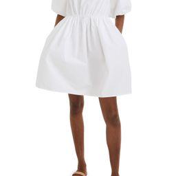 Bubble Sleeve Poplin Minidress | Nordstrom