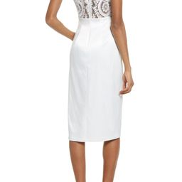 Stunning Sight Embroidered Lace Back Cocktail Dress | Nordstrom