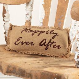 Lucia Burlap Happily Ever After Cotton Lumbar  Pillow | Wayfair North America