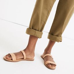 The Boardwalk Double-Strap Slide Sandal in Leather | Madewell