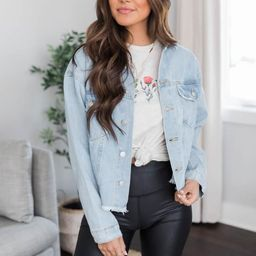 Everyday Love Blue Denim Jacket | The Pink Lily Boutique