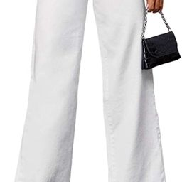 SOLY HUX Women's Casual Denim Pants High Waisted Wide Leg Jeans | Amazon (US)