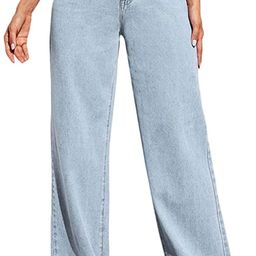 SOLY HUX Women's Casual Denim Pants High Waisted Wide Leg Jeans   Amazon (US)