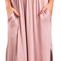 Sarin Mathews Womens Off The Shoulder Ruffle Party Dress Casual Side Split Beach Long Maxi Dresse... | Amazon (US)