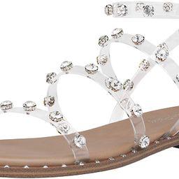 DREAM PAIRS Women's Gladiator Cute Summer Flat Sandals | Amazon (US)