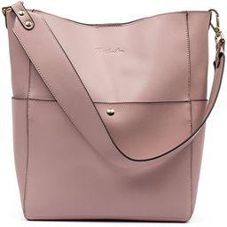 BOSTANTEN Women's Leather Designer Handbags Tote Purses Shoulder Bucket Bags | Amazon (US)